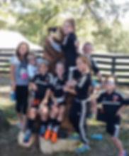 Three Rivers Soccer Club Enjoys a day at The Farm.
