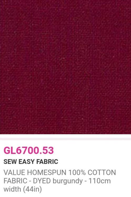 GL6700.53 VALUE Homespun -Burgundy
