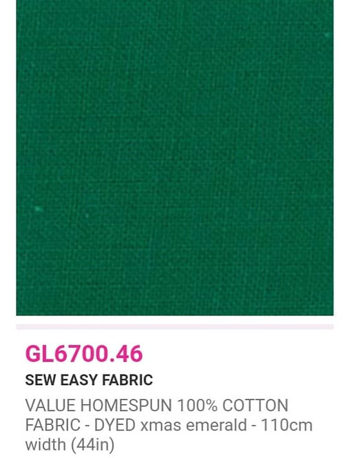 GL6700.46 VALUE Homespun - Xmas Emerald