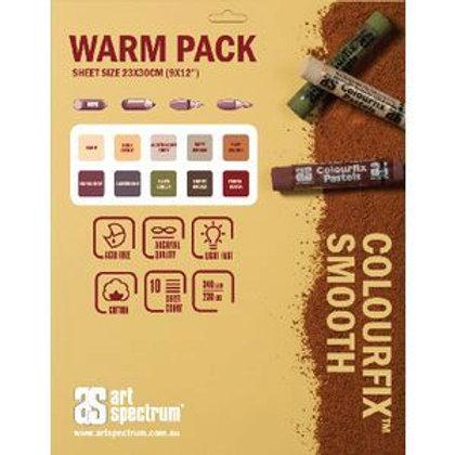 AS Colourfix Pastel Paper 23 x 30cm Warm Pack