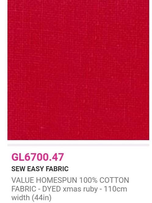 GL6700.47 VALUE Homespun -Xmas Ruby