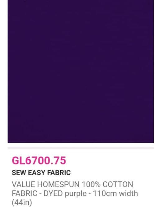 GL6700.75 VALUE Homespun - Purple