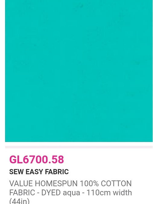 GL6700.58 VALUE Homespun -Aqua