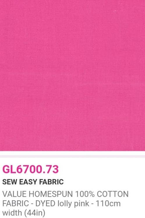 GL6700.73 VALUE Homespun -Lolly Pink