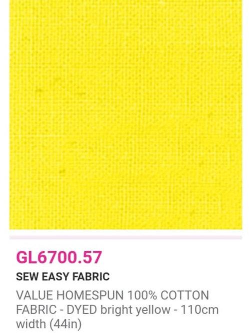 GL6700.57  VALUE Homespun -Bright Yellow