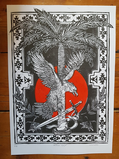 Original Eagle Art Print Blood Moon Limited Edition