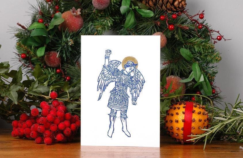 5 x Blue Angel Christmas Card