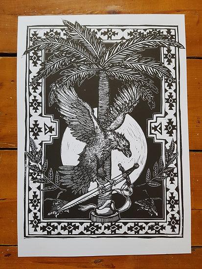 Original Eagle Monochrome Art Print