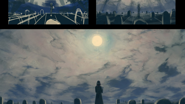 Tasogare - Moonlight - BG Process - Skuo
