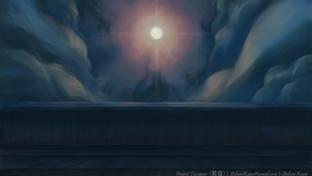 Tasogare - Iridescent Moon - BG Painting