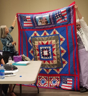Patriotic Quilt by Charlene Hager