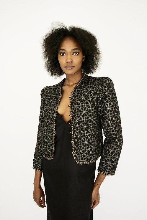 Vintage 1976 Yves Saint Laurent Rive Gauche Silk Jacket