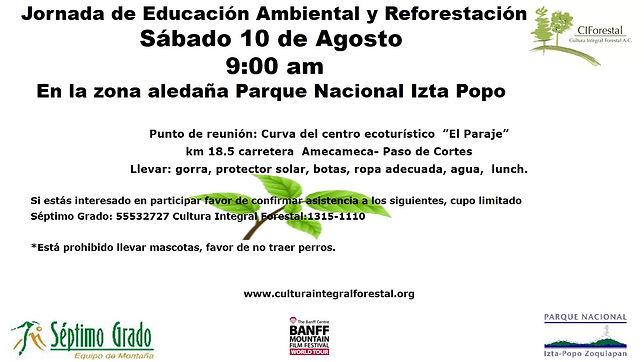 invitacion reforestacion Forestal Izta p