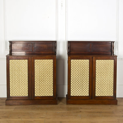 Good Pair of Regency Mahogany side Cabinets