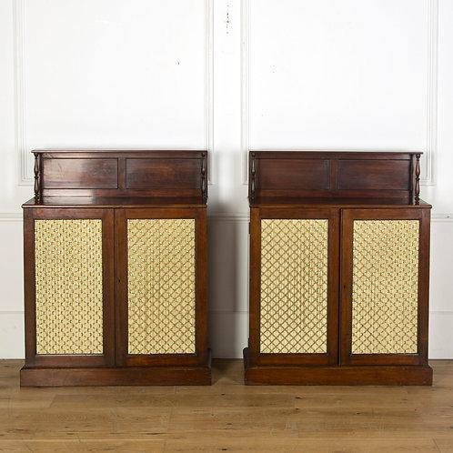 Good Pair of Regency Mahogany side Cabinets