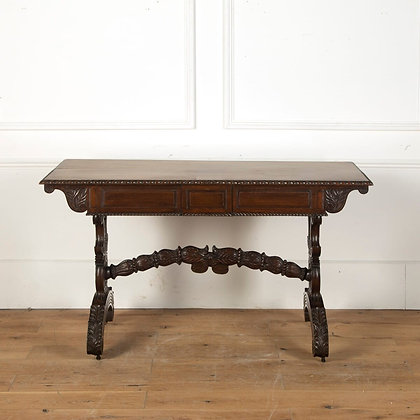 A Quality C19th Anglo Indian Padouk Library Centre Table