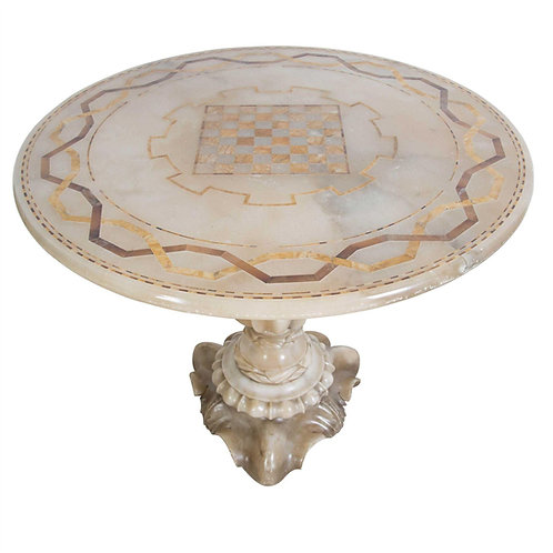 A stunning C19th Italian Alabaster Centre Table