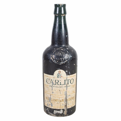 Early C20th Advertising sherry bottle