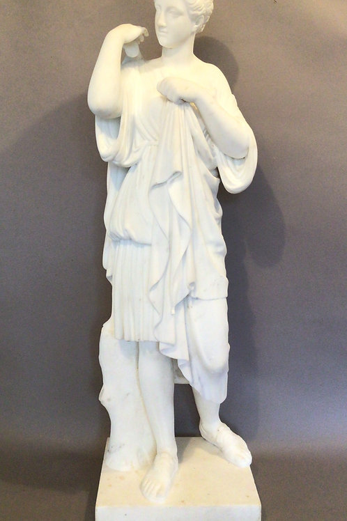 C19th Grand Tour Marble Statue of Diane