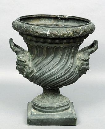 Large C19th classical bronze  urn