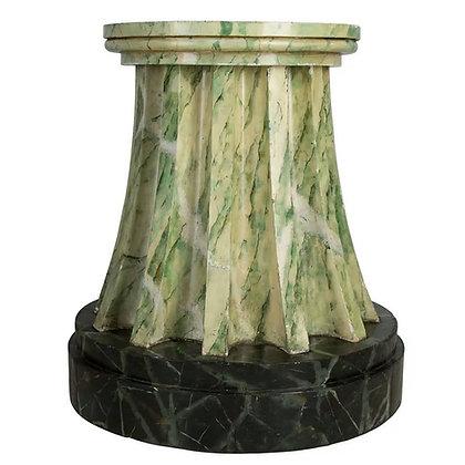 Regency Marbleized Fluted Column/Pedestal