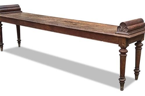 Long 19th Century Oak Hall Bench
