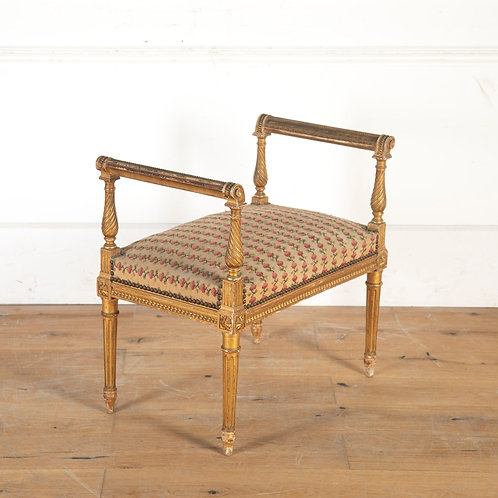 C19th French giltwood stool