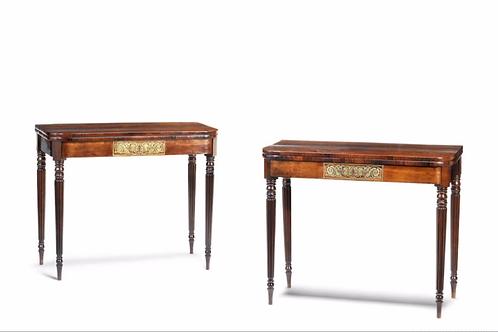 Regency pair of card tables