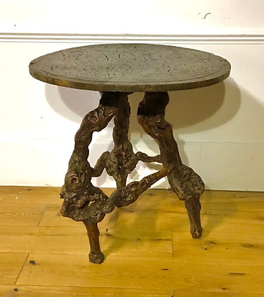 Mid C19th Burr Elm and root wood Table