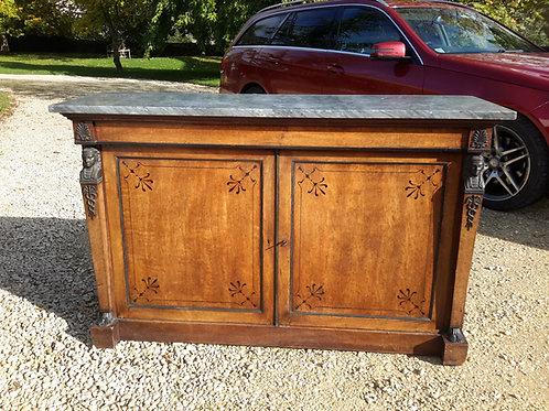 C19th ebony inlaid side cabinet