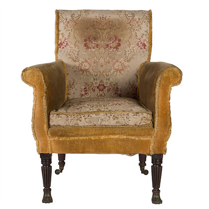 Large regency Mahogany Library Chair