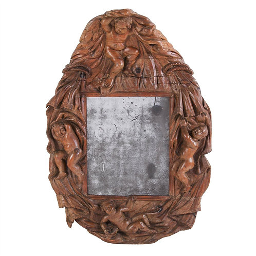 A charming C18th Italian Carved Mirror