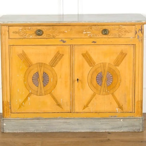 C19th French Decorated Side Cabinet