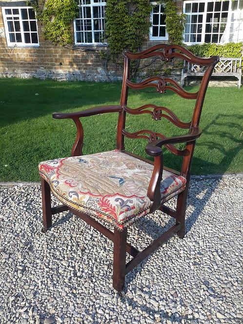geo III large mahogany elbow chair