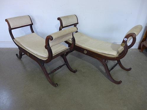 Regency pair of window seats