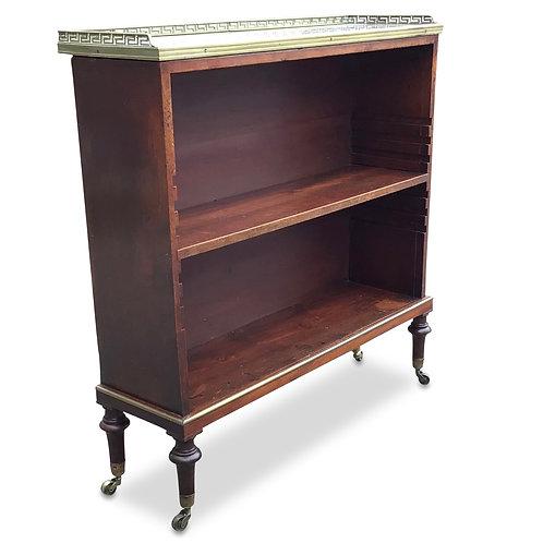 Regency Mahogany and Marble Open Bookcase