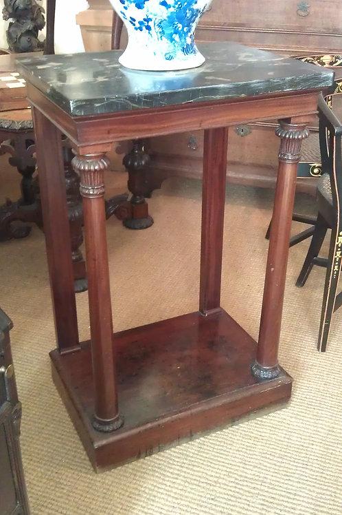Regency mahogany & porto marble pier table