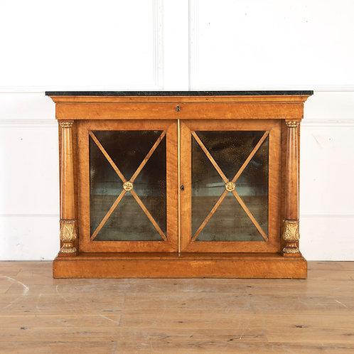 Regency Birds-Eye Maple Side Cabinet