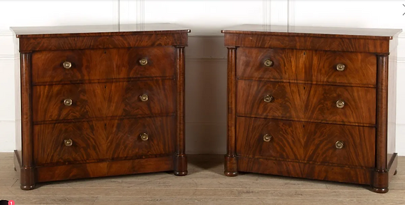Pair of Regency Mahogany Chest of Drawers