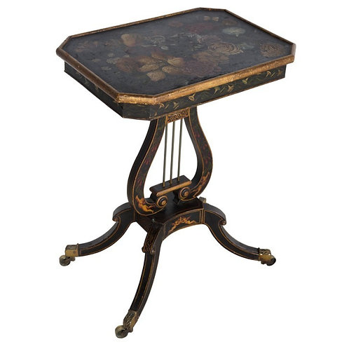 Regency decorated occasional table
