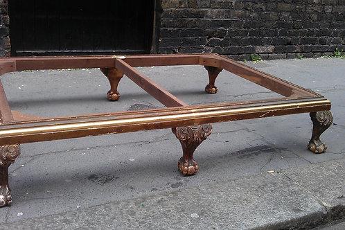 Large C19th giltwood stool