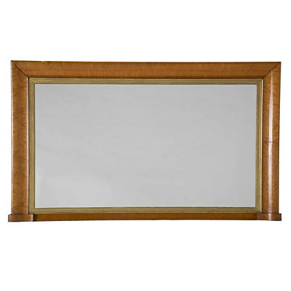 Early C19th Maple Wall/Overmantle Mirror