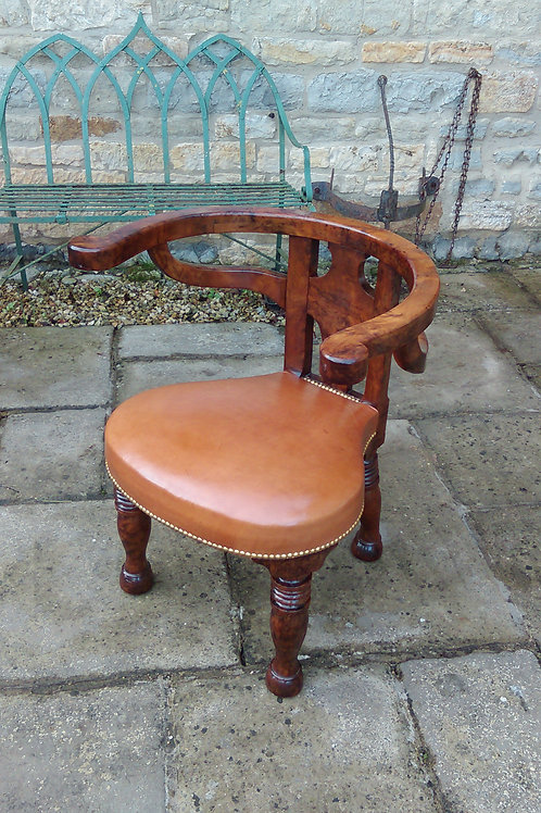 C19th Yewwood chair