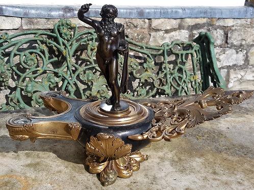 C19th Grand Tour Bronze colza lamp