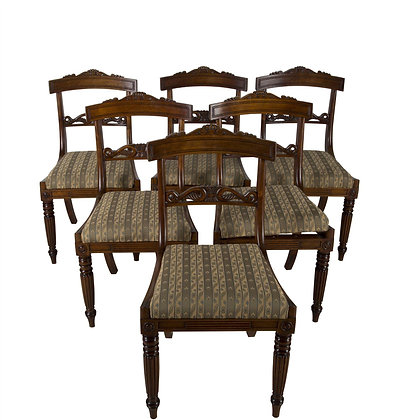 Set of 6 Regency Gillow Chairs
