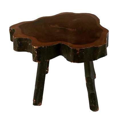 C19th Rustic Yewwood Low Occasional Table