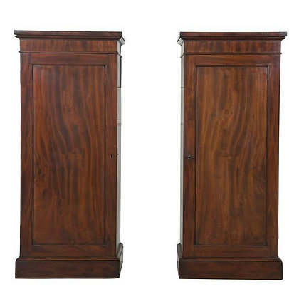 Pair of C19th Mahogany Pedestal Cupboards