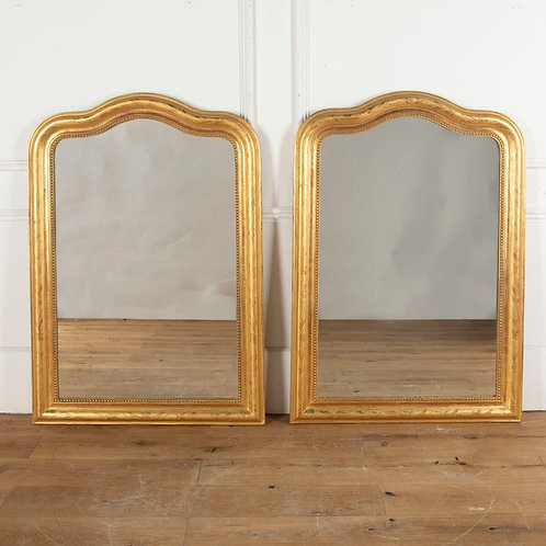 19th Century Pair of Giltwood Mirrors