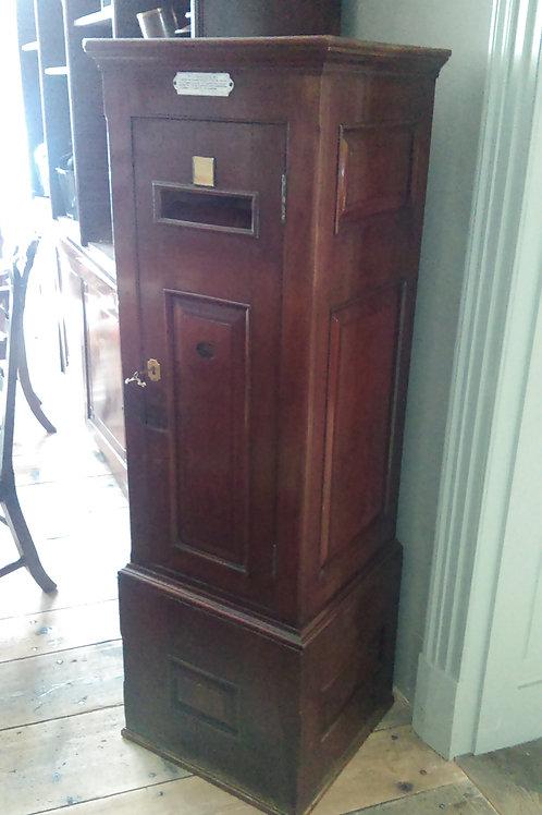 C19th mahogany country house post box