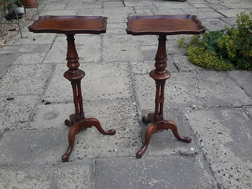 C19th pair mahogany Gillow wine tables